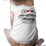 I Love (Heart) My Neapolitan Mastiff Pawprint T-Shirt
