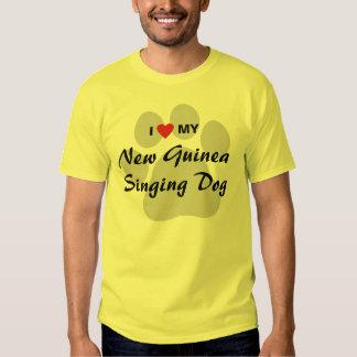 I Love (Heart) My New Guinea Singing Dog Shirt