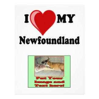 I Love (Heart) My Newfoundland Dog Flyer