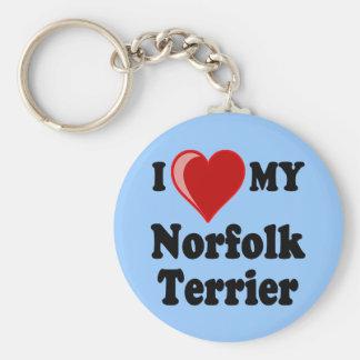 I Love (Heart) My Norfolk Terrier Dog Key Chain