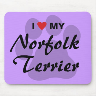 I Love (Heart) My Norfolk Terrier Mouse Pad