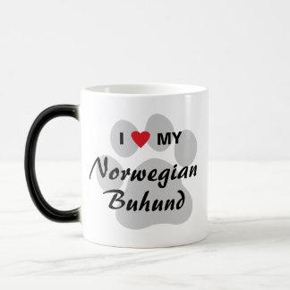 I Love (Heart) My Norwegian Buhund Magic Mug