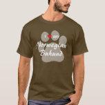 I Love (Heart) My Norwegian Buhund T-Shirt