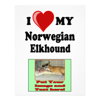 I Love (Heart) My Norwegian Elkhound Dog Flyer