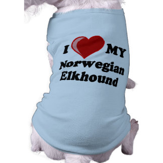 I Love (Heart) My Norwegian Elkhound Dog Shirt