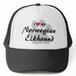 I Love (Heart) My Norwegian Elkhound Trucker Hat