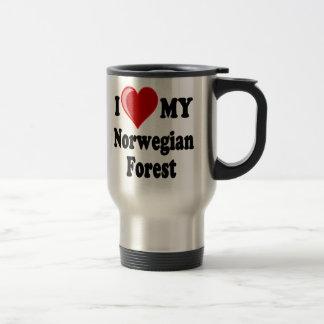 I Love (Heart) My Norwegian Forest Cat Travel Mug