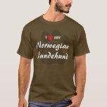 I Love (Heart) My Norwegian Lundehund Shirt