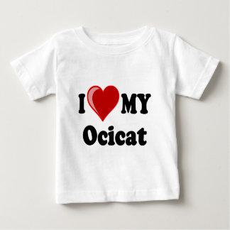 I Love (Heart) My Ocicat Cat Baby T-Shirt