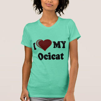 I Love (Heart) My Ocicat Cat T-Shirt