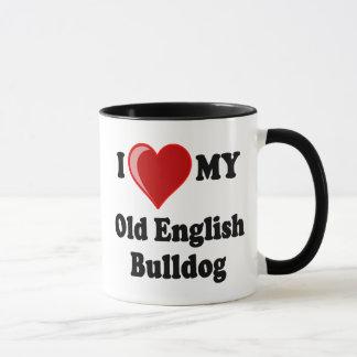 I Love (Heart) My Old English Bulldog Dog Mug