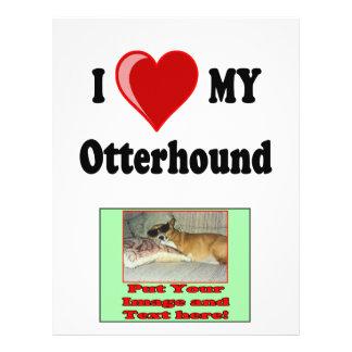 I Love (Heart) My Otterhound Dog Flyer