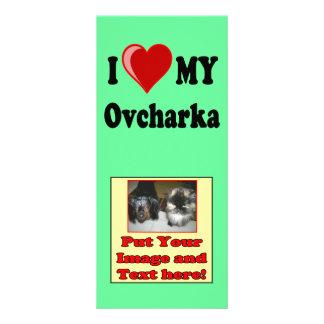 I Love (Heart) My Ovcharka Dog Rack Card