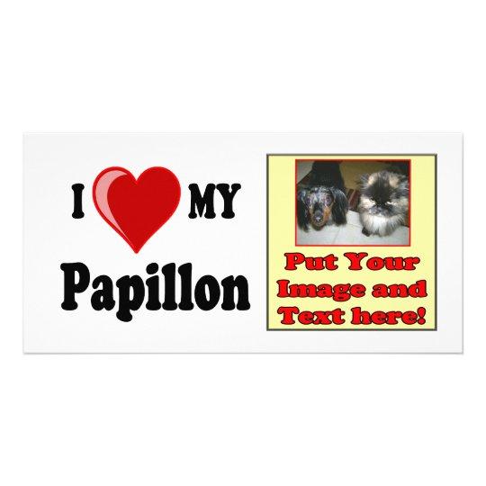 I Love (Heart) My Papillon Dog Card