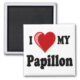 I Love (Heart) My Papillon Dog Fridge Magnet