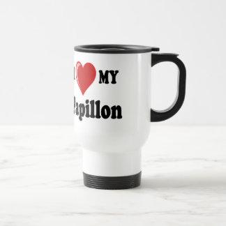 I Love (Heart) My Papillon Dog Coffee Mugs