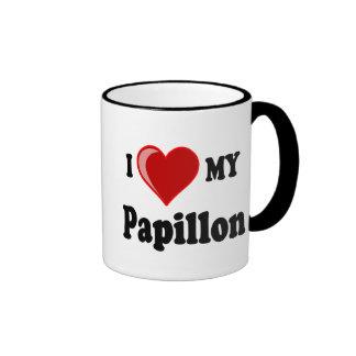 I Love (Heart) My Papillon Dog Coffee Mug