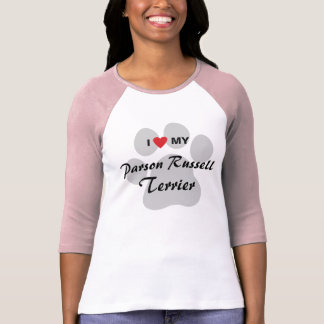 I Love (Heart) My Parson Russell Dog Lovers Tee Shirt