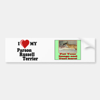 I Love (Heart) My Parson Russell Terrier Dog Bumper Sticker
