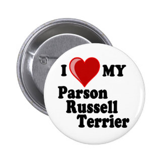 I Love (Heart) My Parson Russell Terrier Dog Pinback Button