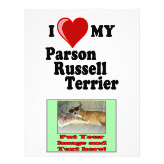 I Love (Heart) My Parson Russell Terrier Dog Flyer