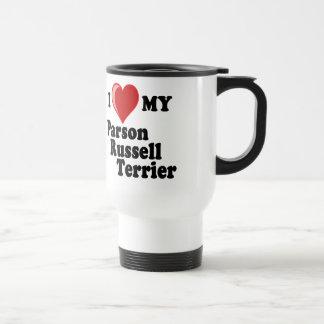 I Love (Heart) My Parson Russell Terrier Dog Travel Mug