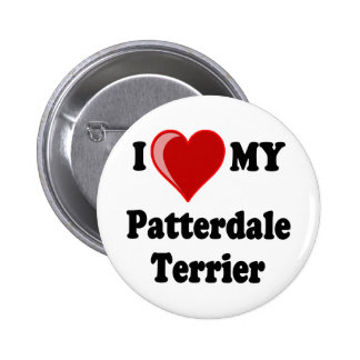 I Love (Heart) My Patterdale Terrier Dog Button