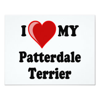 I Love (Heart) My Patterdale Terrier Dog Card