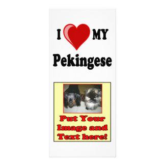 I Love (Heart) My Pekingese Dog Rack Card