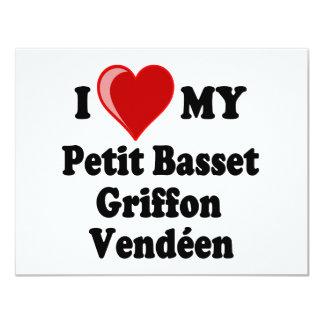 I Love (Heart) My Petit Basset Griffon Vendéen Dog Card