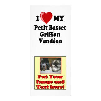 I Love (Heart) My Petit Basset Griffon Vendéen Dog Rack Card