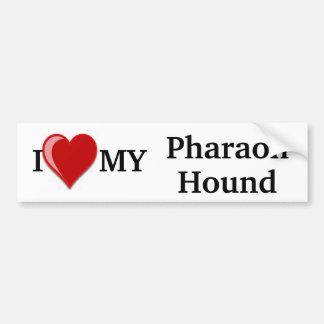I Love (Heart) My Pharaoh Hound Dog Bumper Sticker
