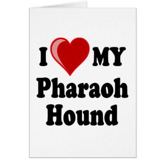 I Love (Heart) My Pharaoh Hound Dog Card