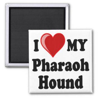 I Love (Heart) My Pharaoh Hound Dog Magnet