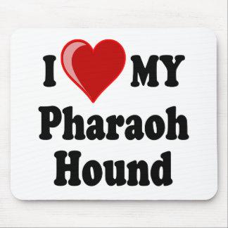 I Love (Heart) My Pharaoh Hound Dog Mouse Pad