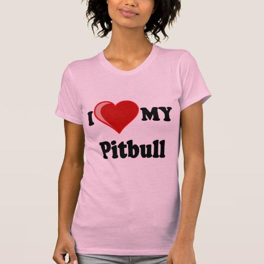 I Love (Heart) My Pitbull Dog T-Shirt