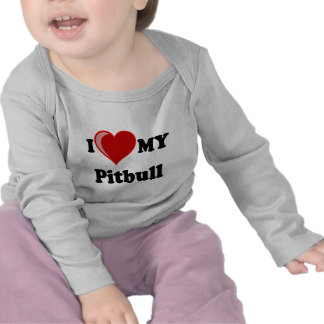 I Love Heart My Pitbull Dog Tee Shirts