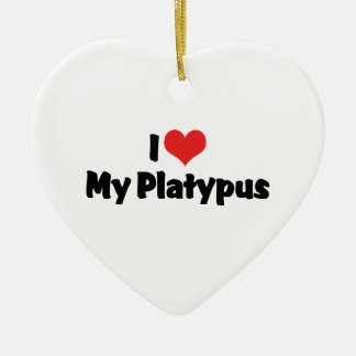 I Love Heart My Platypus Ceramic Ornament