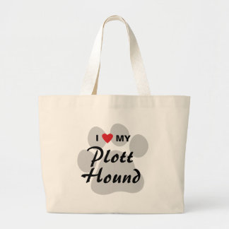 I Love (Heart) My Plott Hound Jumbo Tote Bag