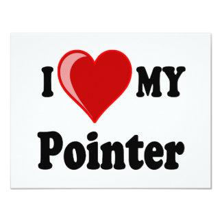 I Love (Heart) My Pointer Dog Card