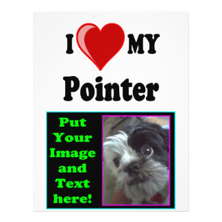 I Love (Heart) My Pointer Dog Flyer