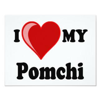 I Love (Heart) My Pomchi Dog Card
