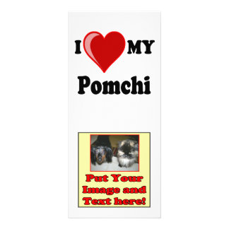I Love (Heart) My Pomchi Dog Rack Card