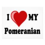 I Love (Heart) My Pomeranian Dog Custom Announcements