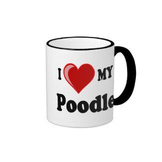 I Love (Heart) My Poodle Dog Mug