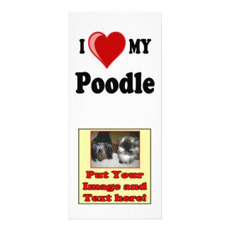 I Love (Heart) My Poodle Dog Rack Card