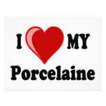 I Love (Heart) My Porcelaine Dog Custom Announcements