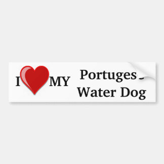 I Love (Heart) My Portugese Water Dog Bumper Sticker