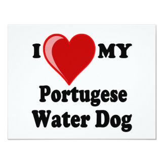 I Love (Heart) My Portugese Water Dog Card