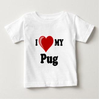 I Love (Heart) My Pug Dog Baby T-Shirt